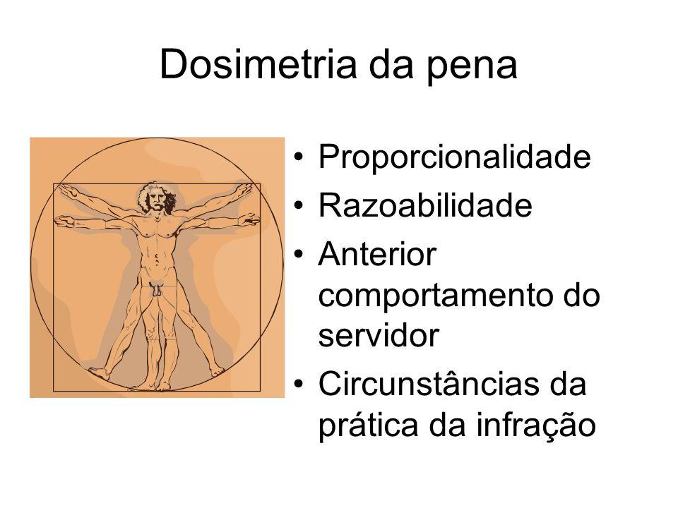 Dosimetria da pena Proporcionalidade Razoabilidade Anterior comportamento do servidor Circunstâncias da prática da infração