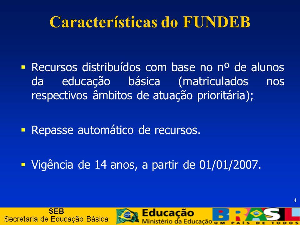 SEB Secretaria de Educação Básica 5 Assegurar um mecanismo de financiamento que promova a inclusão sócio-educacional no âmbito de toda a educação básica.