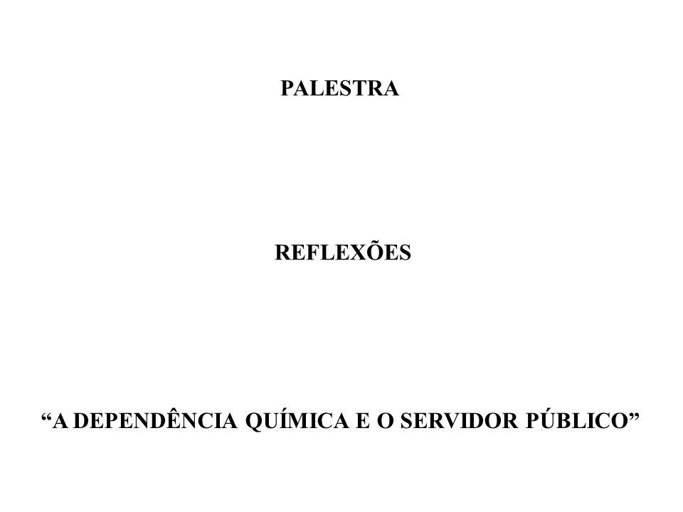 PALESTRA REFLEXÕES A DEPENDÊNCIA QUÍMICA E O SERVIDOR PÚBLICO
