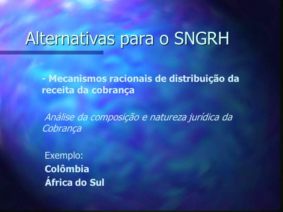 Alternativas para o SNGRH - Instâncias intermediárias de coordenação e decisão.