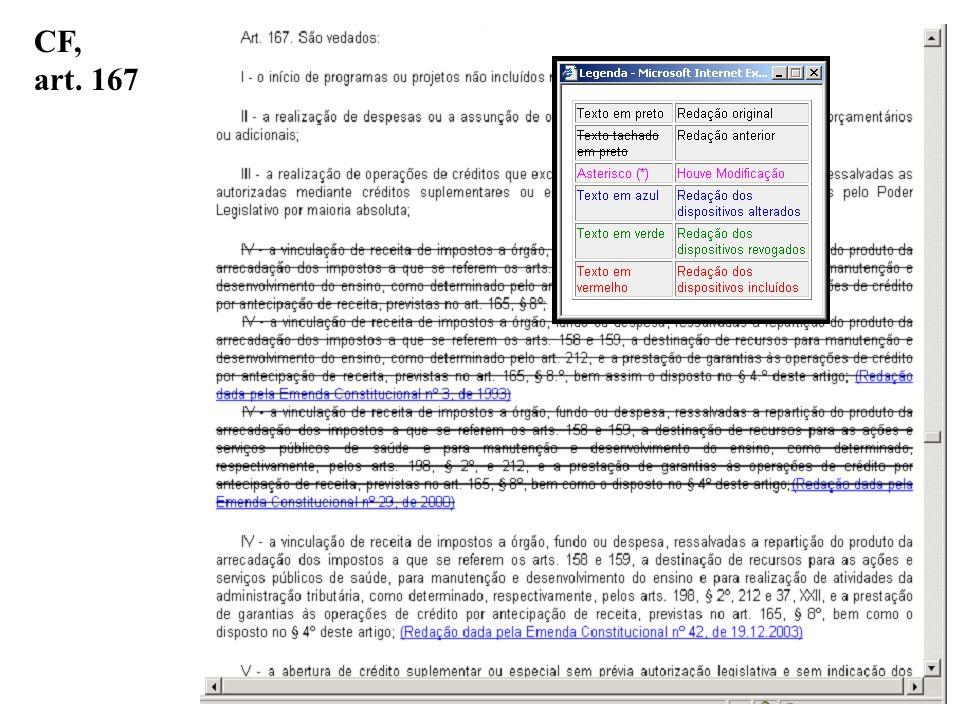 CF, art. 167