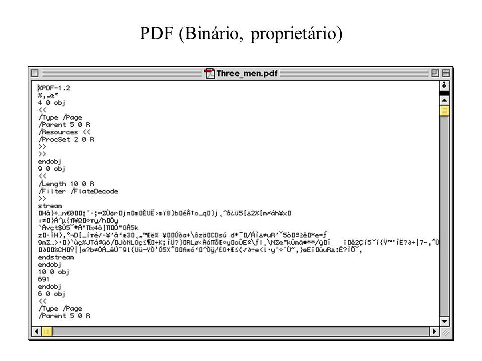 PDF (Binário, proprietário)