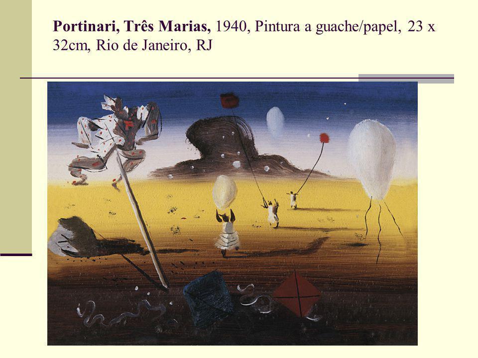 Portinari, Três Marias, 1940, Pintura a guache/papel, 23 x 32cm, Rio de Janeiro, RJ
