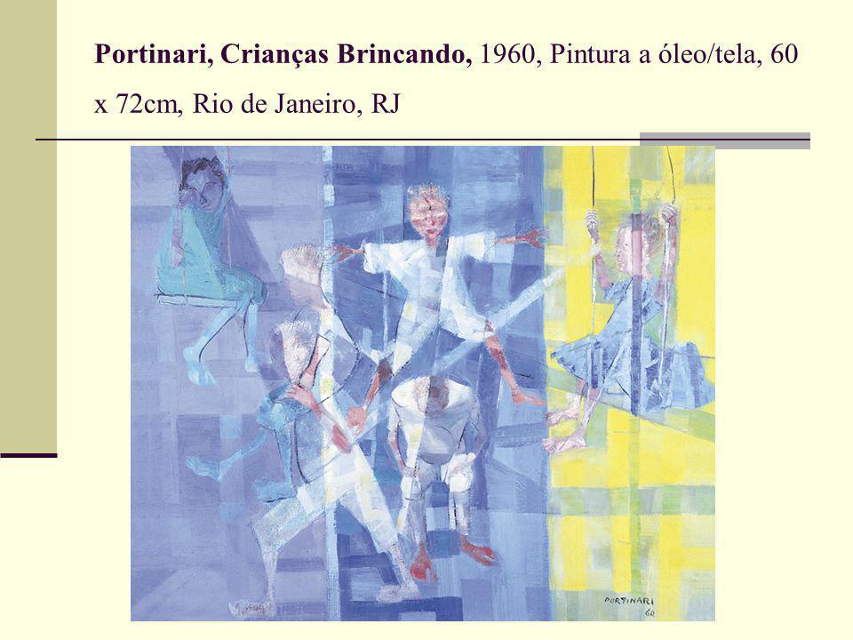 Portinari, Crianças Brincando, 1960, Pintura a óleo/tela, 60 x 72cm, Rio de Janeiro, RJ