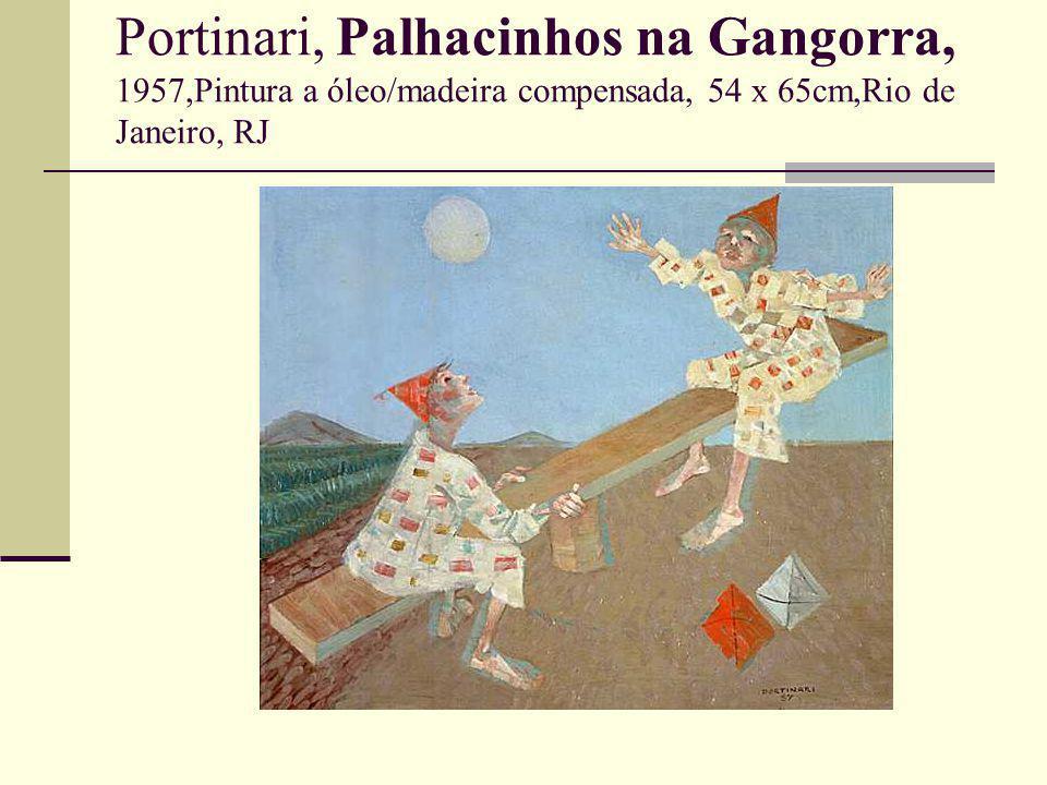 Portinari, Palhacinhos na Gangorra, 1957,Pintura a óleo/madeira compensada, 54 x 65cm,Rio de Janeiro, RJ