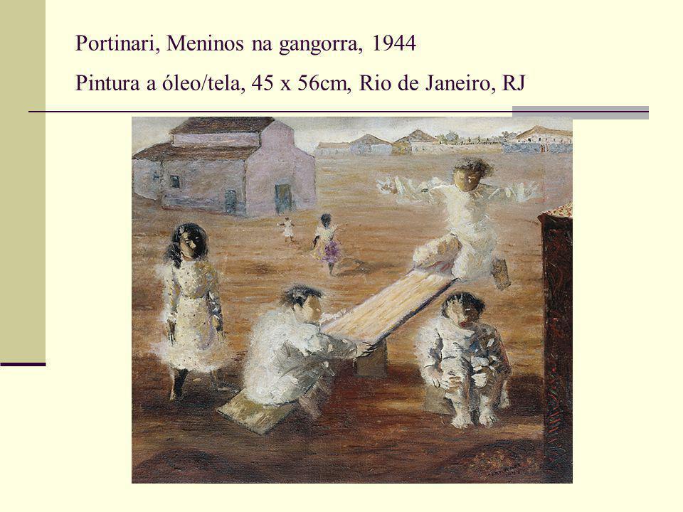 Portinari, Meninos na gangorra, 1944 Pintura a óleo/tela, 45 x 56cm, Rio de Janeiro, RJ