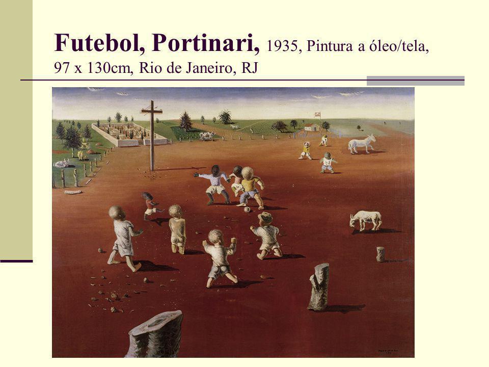 Futebol, Portinari, 1935, Pintura a óleo/tela, 97 x 130cm, Rio de Janeiro, RJ