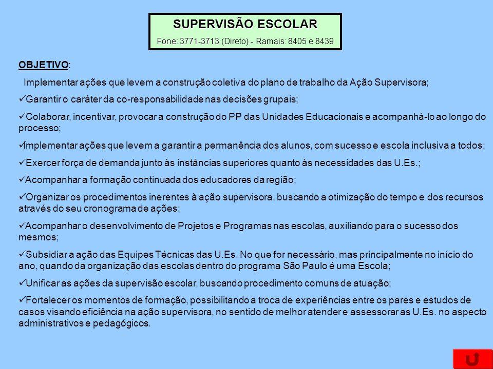 OBJETIVO: Implementar ações que levem a construção coletiva do plano de trabalho da Ação Supervisora; Garantir o caráter da co-responsabilidade nas de