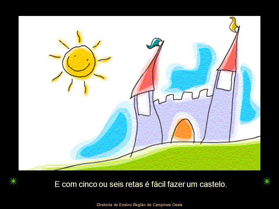 Diretoria de Ensino Região de Campinas Oeste E com cinco ou seis retas é fácil fazer um castelo.