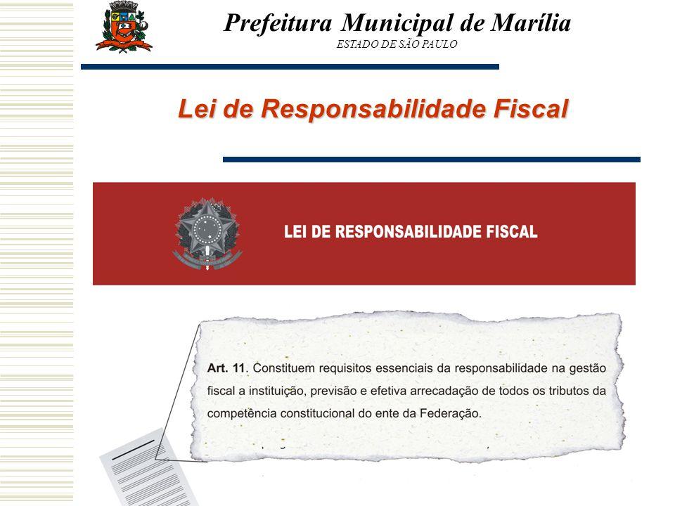 Lei de Responsabilidade Fiscal Prefeitura Municipal de Marília ESTADO DE SÃO PAULO
