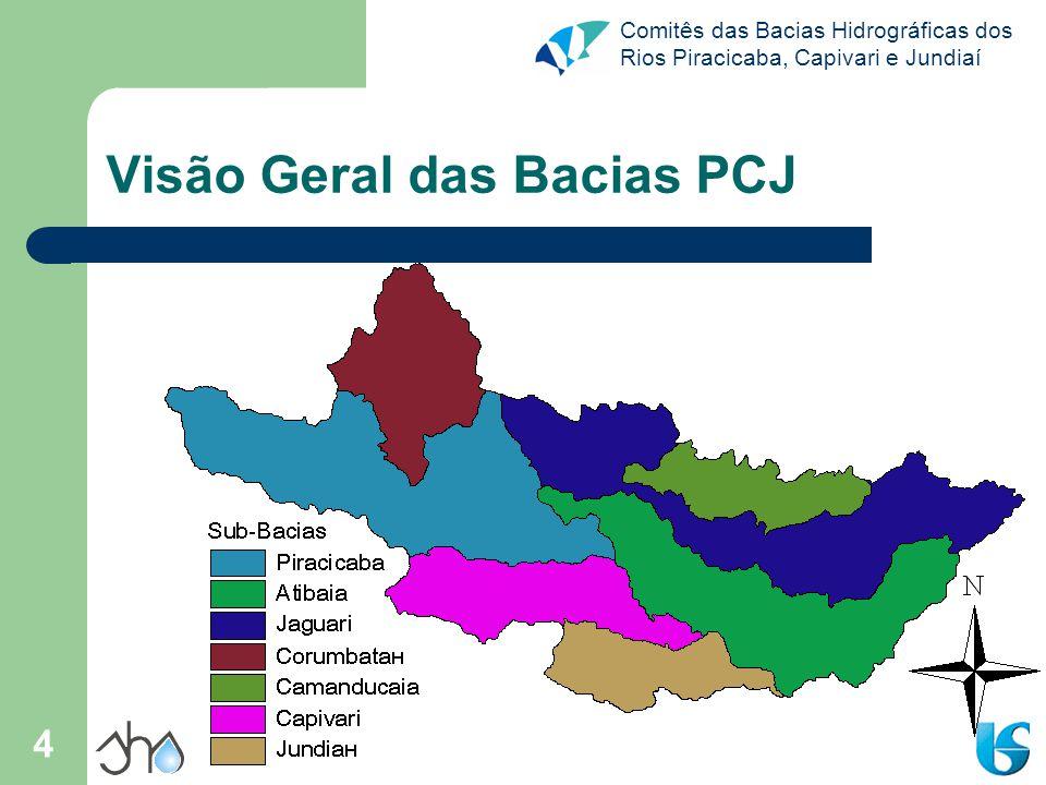 Comitês das Bacias Hidrográficas dos Rios Piracicaba, Capivari e Jundiaí 4 Visão Geral das Bacias PCJ