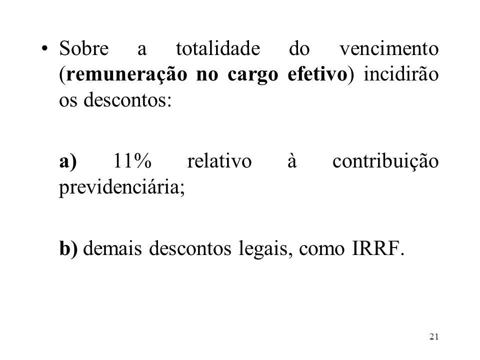 22 Hospital do Servidor Público Municipal: a) Sobre o vencimento básico do cargo incidirá 3% relativo à contribuição ao HSPM pela assistência médica.
