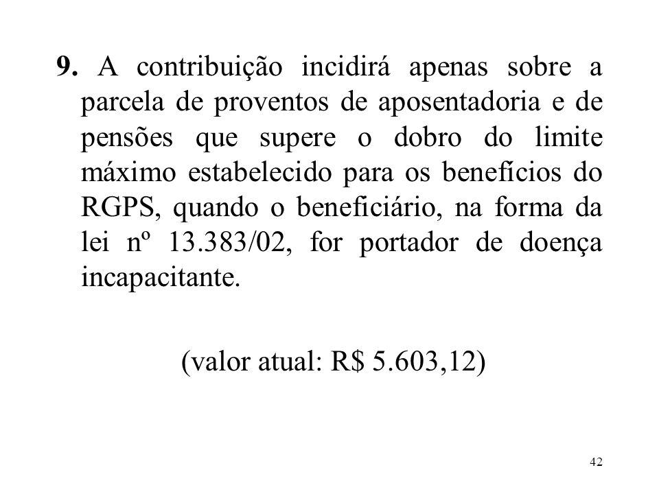 43 Aposentadoria: na EC nº 41/03 Regras permanentes aplicáveis aos servidores que ingressaram a partir de 01/01/2004.
