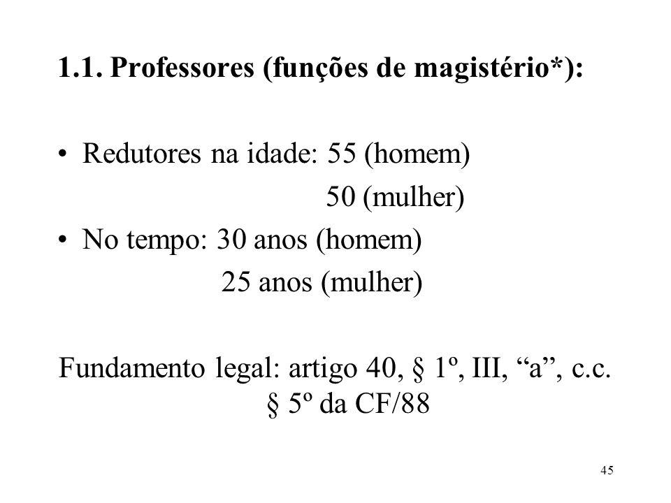 46 (*) Lei nº 11.301, DOU de 11/05/06: Para os efeitos do disposto no § 5º do art.