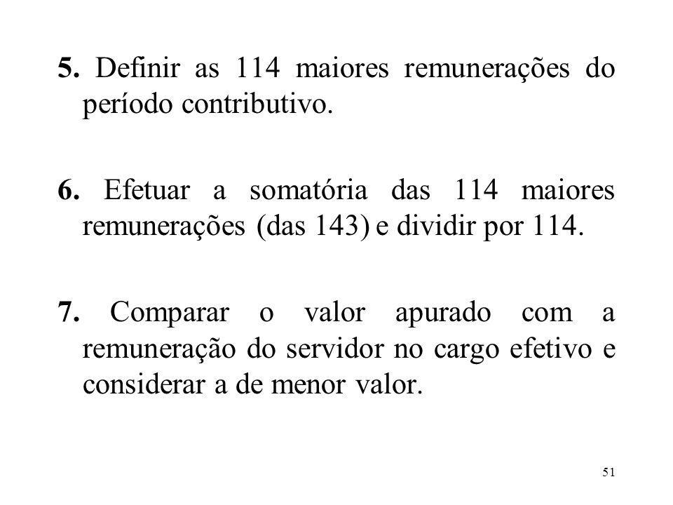 52 Exemplo: a) cálculo da média: R$ 1.254,41 b) remuneração no cargo efetivo: R$ 1.066,43 c) valor a ser fixado é o menor, no caso, R$ 1.066,43