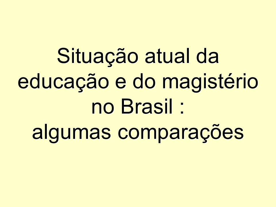 Situação atual da educação e do magistério no Brasil : algumas comparações