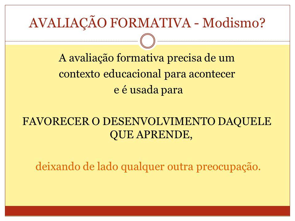 AVALIAÇÃO FORMATIVA - Modismo.