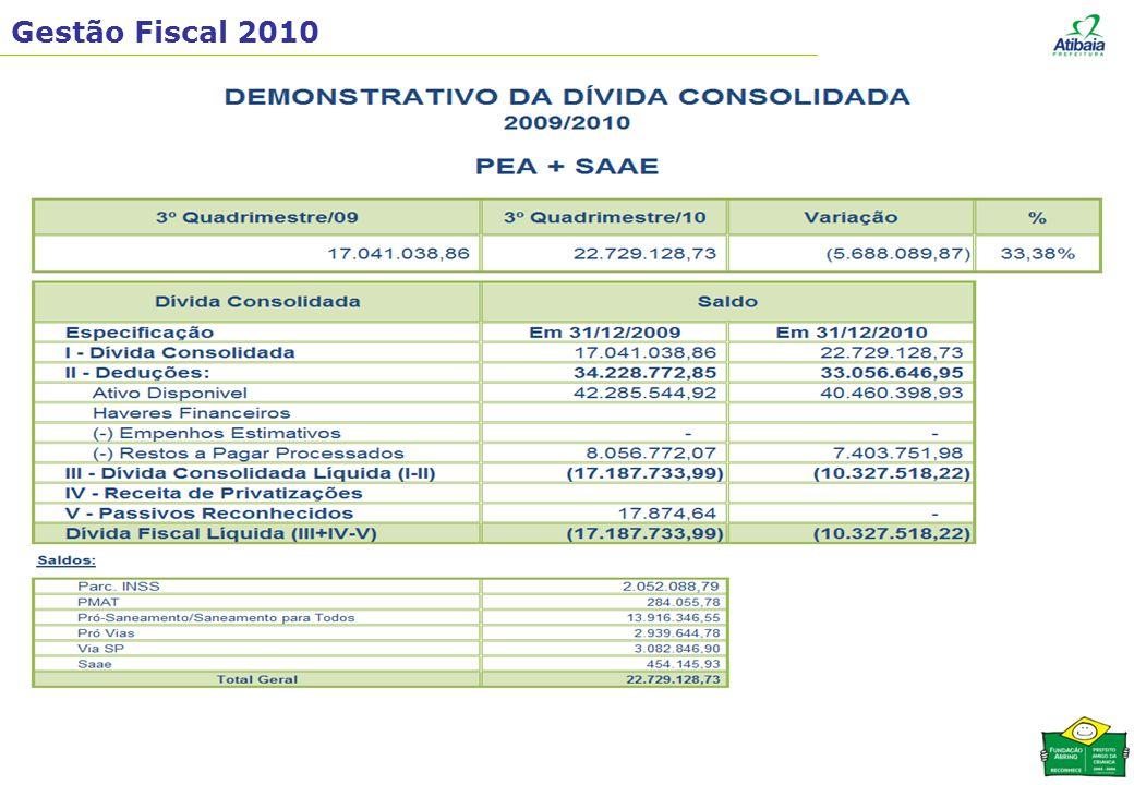 Gestão Fiscal 2010