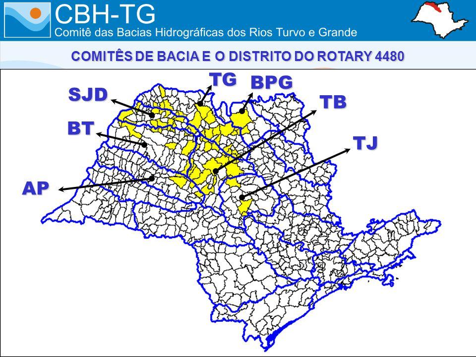 TG BPG TB TJ AP BT SJD COMITÊS DE BACIA E O DISTRITO DO ROTARY 4480