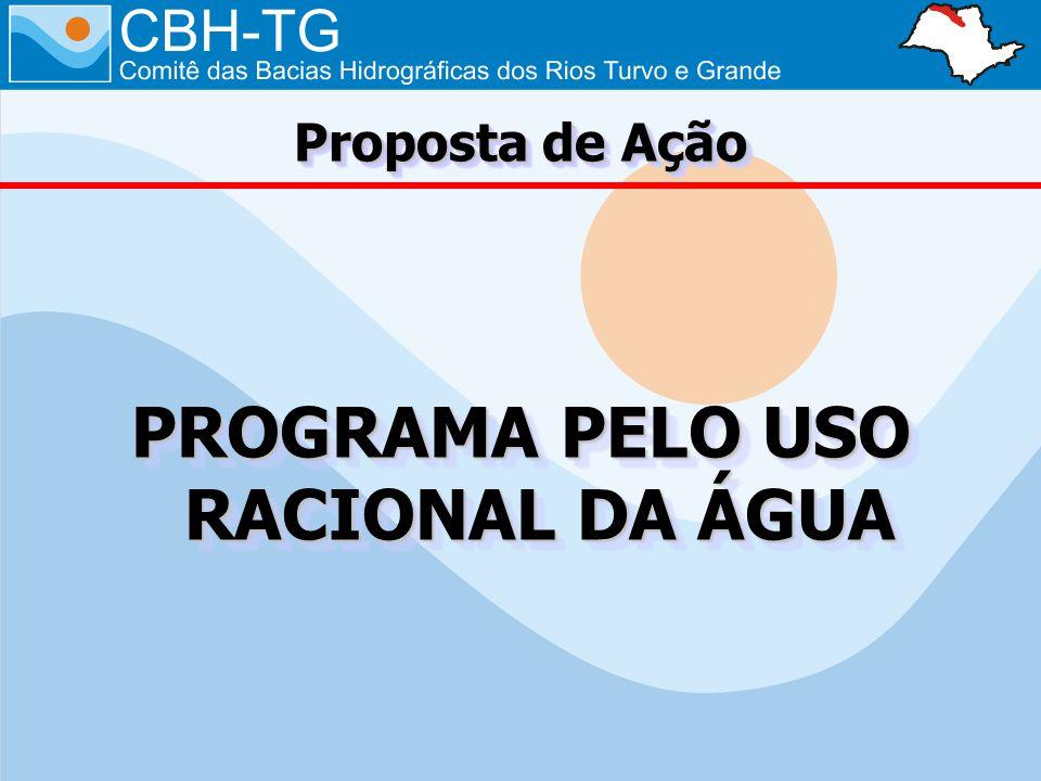 PROGRAMA PELO USO RACIONAL DA ÁGUA Proposta de Ação