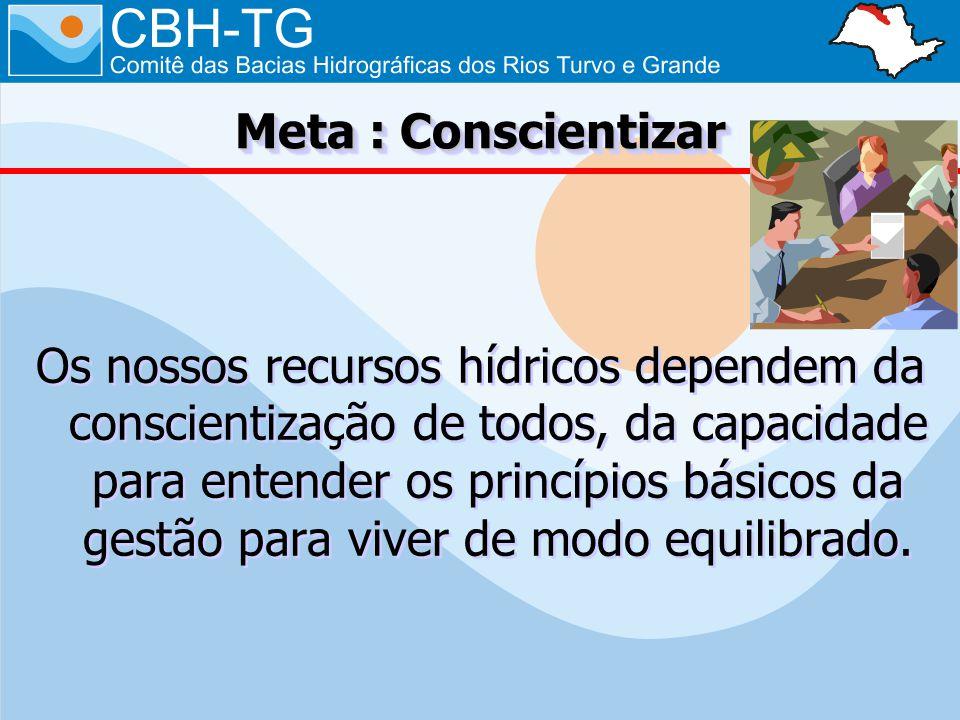Os nossos recursos hídricos dependem da conscientização de todos, da capacidade para entender os princípios básicos da gestão para viver de modo equil