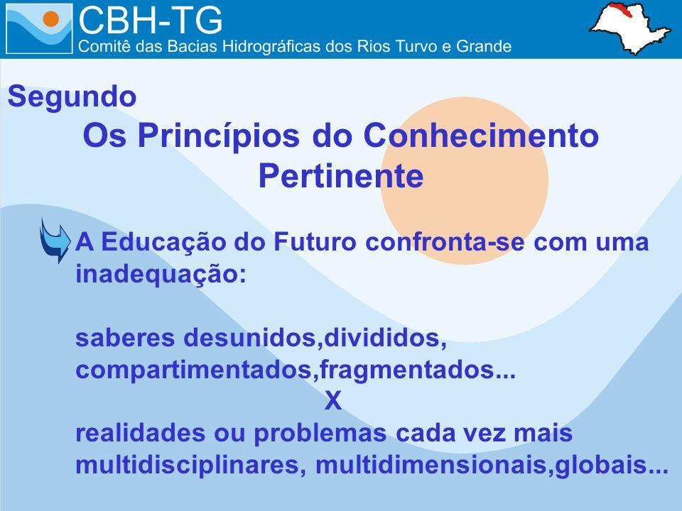 Segundo Os Princípios do Conhecimento Pertinente A Educação do Futuro confronta-se com uma inadequação: saberes desunidos,divididos, compartimentados,
