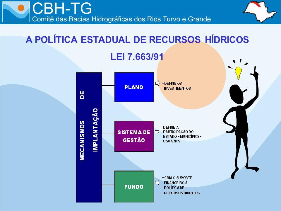 A POLÍTICA ESTADUAL DE RECURSOS HÍDRICOS LEI 7.663/91