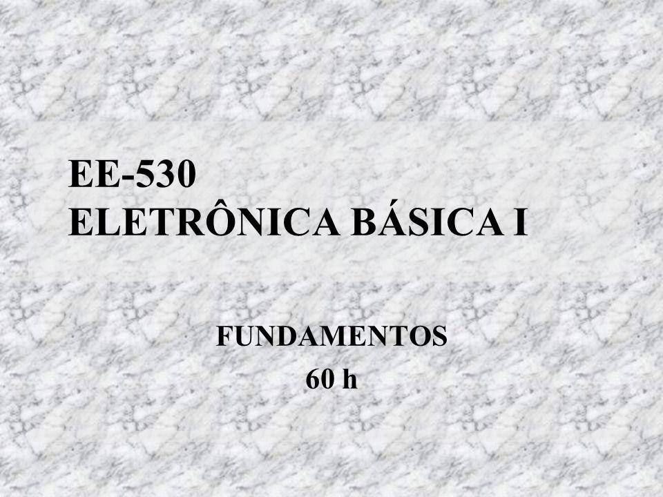 EE-530 ELETRÔNICA BÁSICA I FUNDAMENTOS 60 h