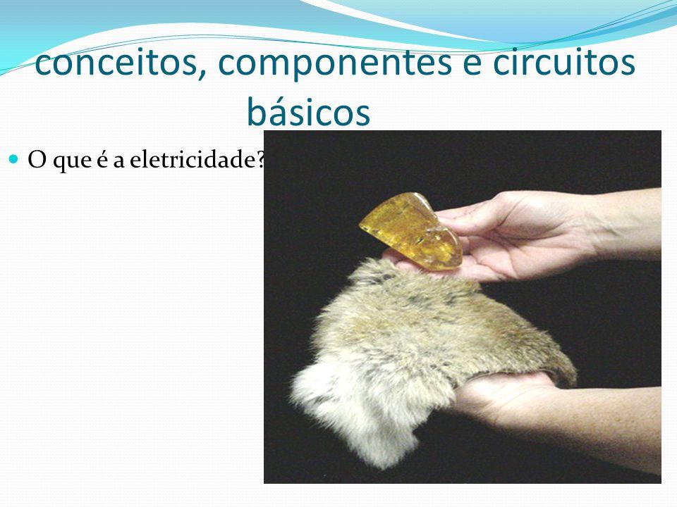 conceitos, componentes e circuitos básicos O que é a eletricidade?