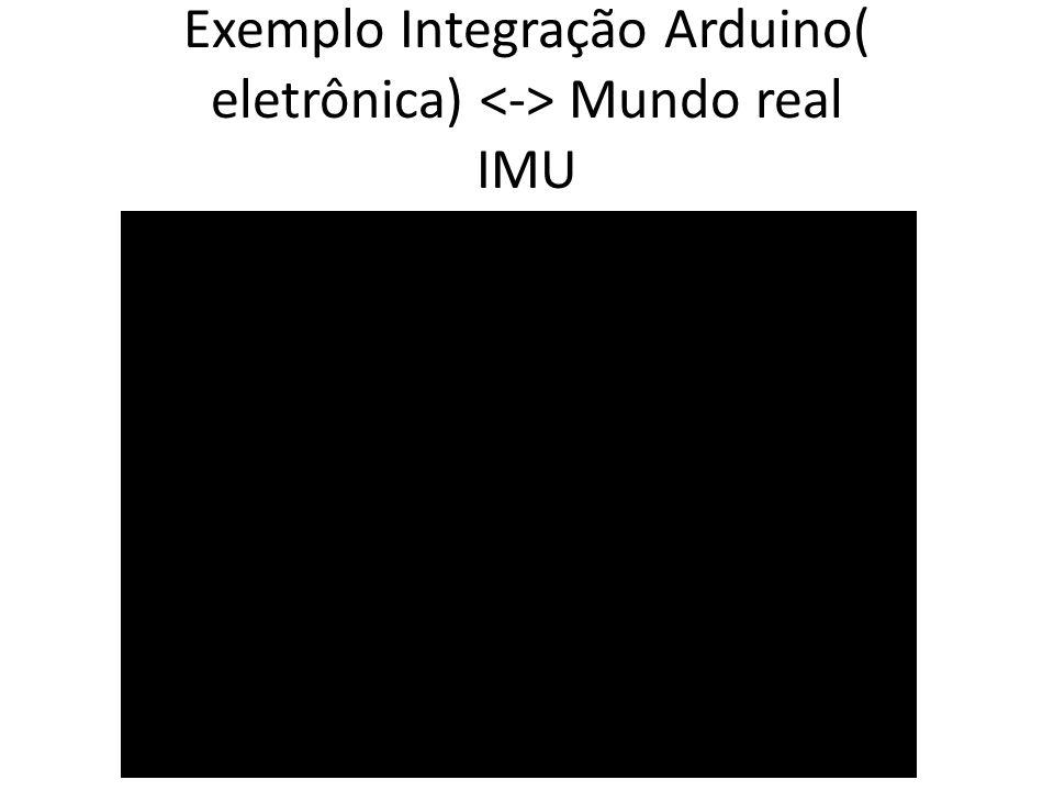 Exemplo Integração Arduino( eletrônica) Mundo real IMU