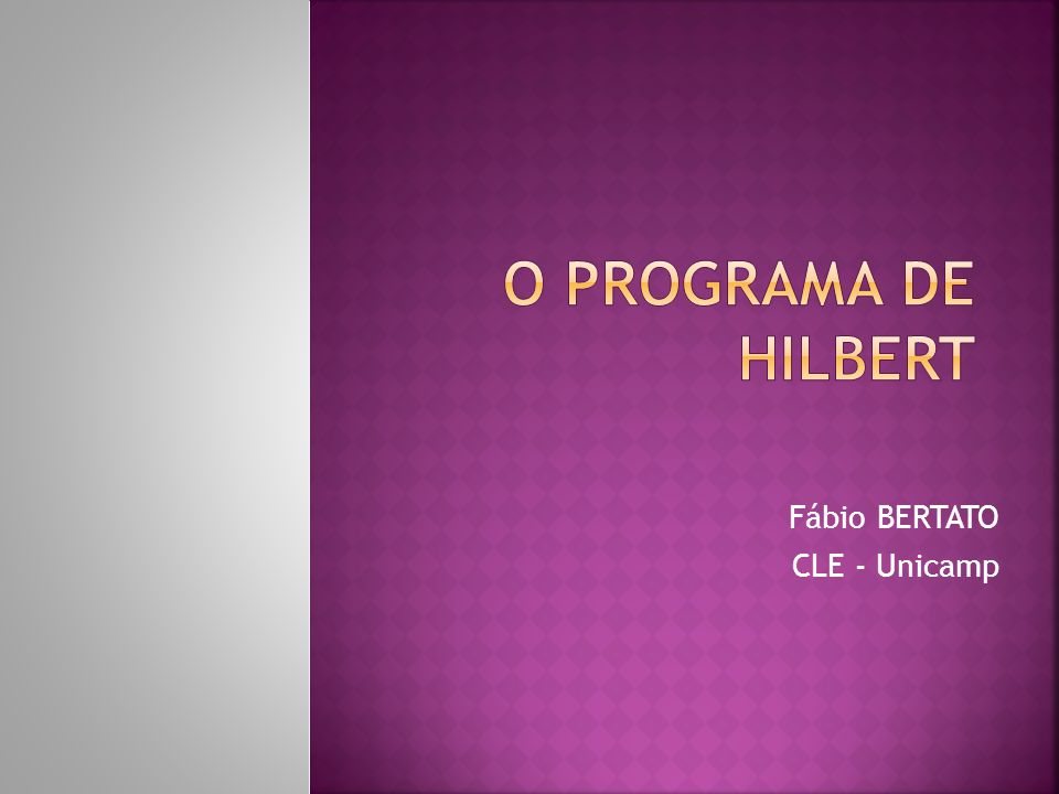 Fábio BERTATO CLE - Unicamp