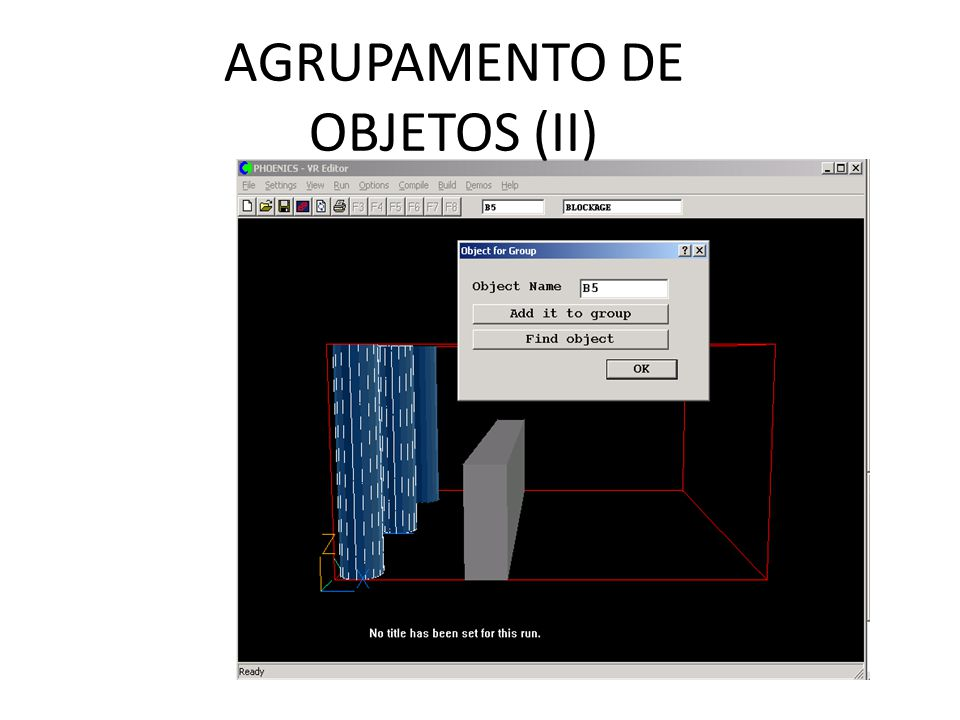 AGRUPAMENTO DE OBJETOS (II)