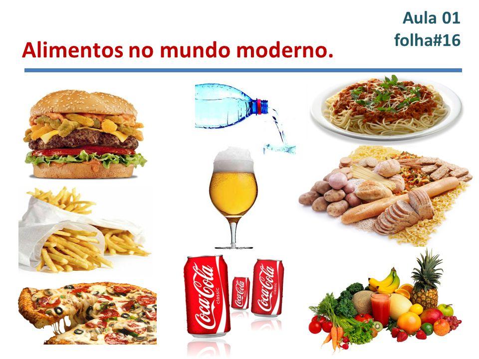 Aula 01 folha#16 Alimentos no mundo moderno. Inserir figuras
