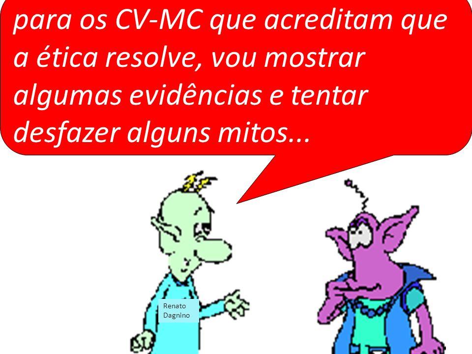 para os CV-MC que acreditam que a ética resolve, vou mostrar algumas evidências e tentar desfazer alguns mitos... Renato Dagnino