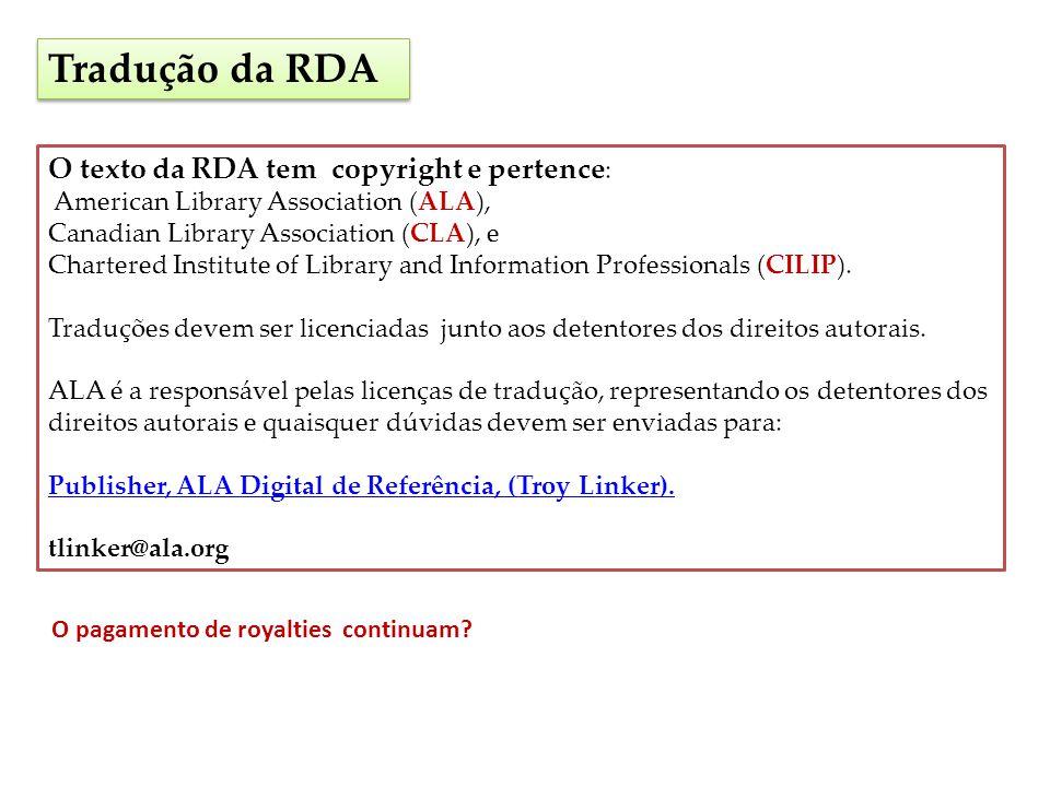Legibilidade RDA Texto da RDA comparado com AACR2 ISBD Manual de catalogação do CONSER Ferramenta de comparação FLESCH READING EASE FLESCH-KINCAID GRADE LEVEL Indicação RDA menos legível.