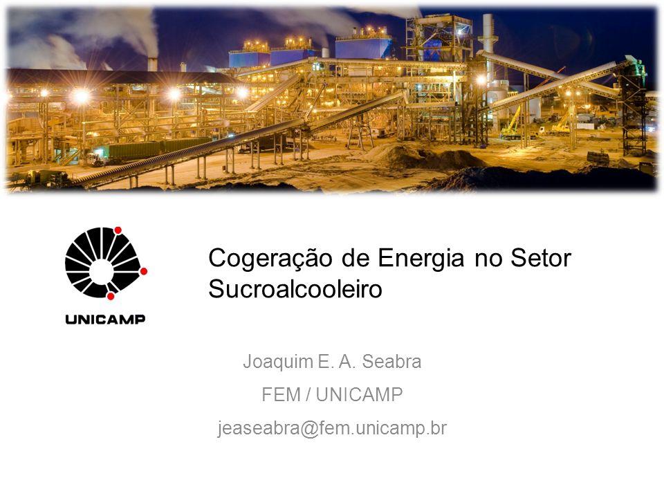 Cogeração de Energia no Setor Sucroalcooleiro Joaquim E. A. Seabra FEM / UNICAMP jeaseabra@fem.unicamp.br