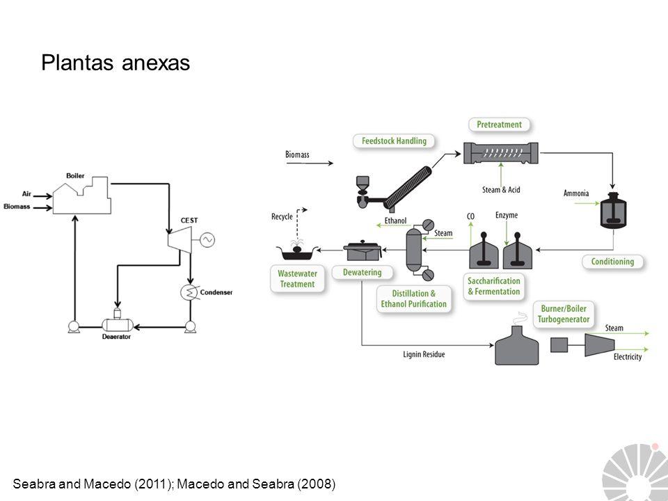 Seabra and Macedo (2011); Macedo and Seabra (2008) Plantas anexas