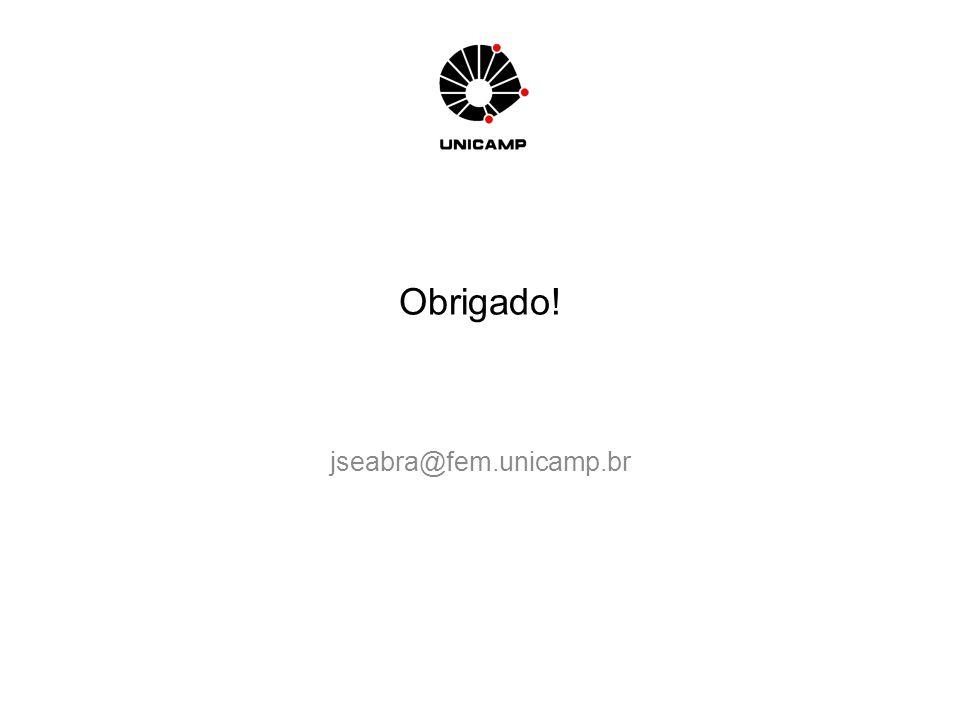 Obrigado! jseabra@fem.unicamp.br
