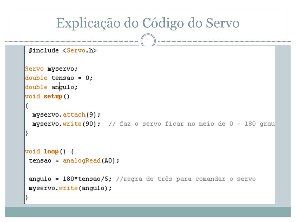 Explicação do Código do Servo