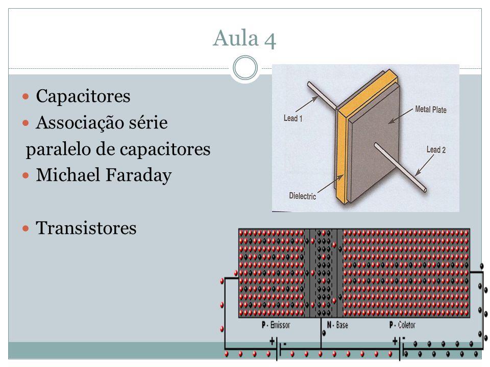 Aula 4 Capacitores Associação série paralelo de capacitores Michael Faraday Transistores