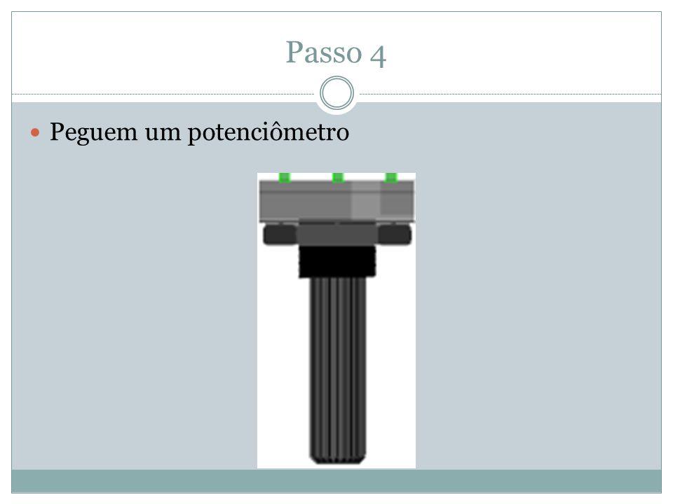 Passo 5: Encaixem os fios GND e 5 V do arduino como indicado