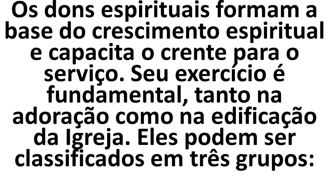 Favoritos Estudo sobre Dons Espirituais. Os dons espirituais formam a base  MF99