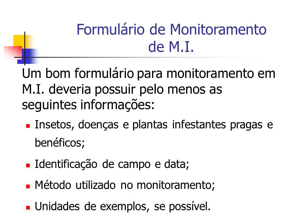 Formulário de Monitoramento de M.I. Um bom formulário para monitoramento em M.I.
