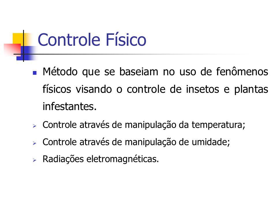 Controle Físico Método que se baseiam no uso de fenômenos físicos visando o controle de insetos e plantas infestantes.