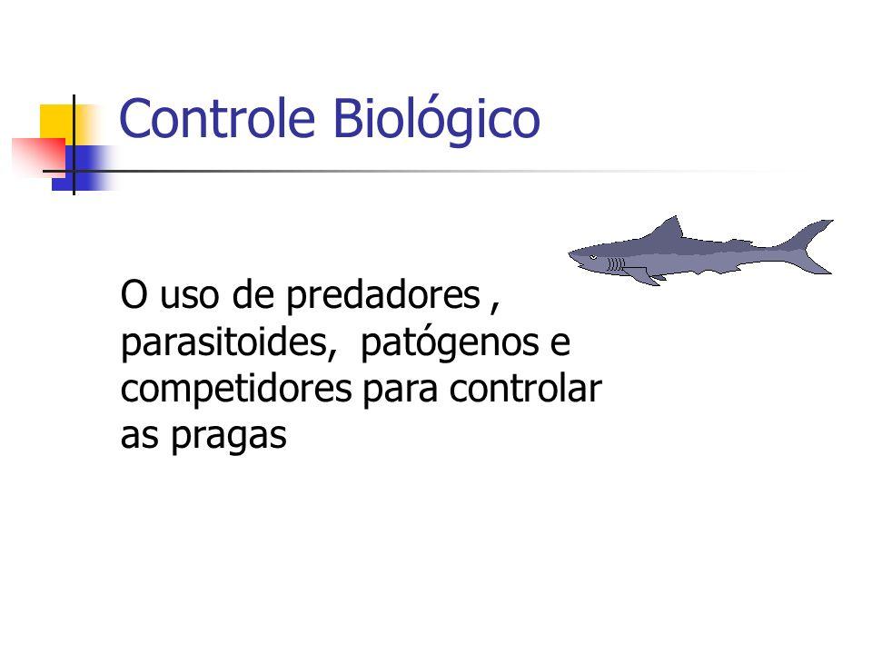 Controle Biológico O uso de predadores, parasitoides, patógenos e competidores para controlar as pragas