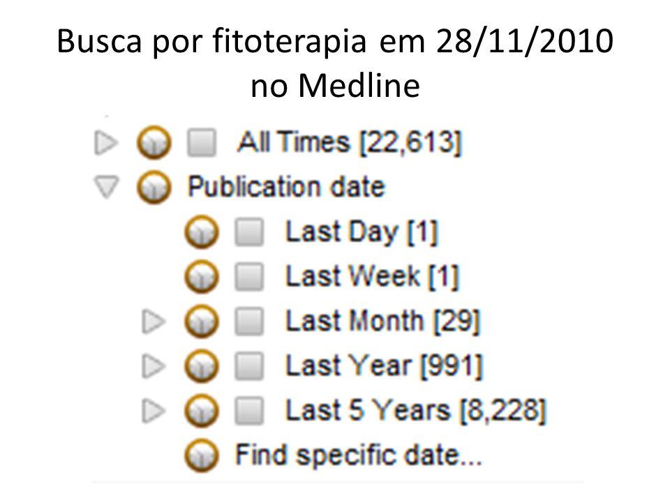 Busca por fitoterapia em 28/11/2010 no Medline
