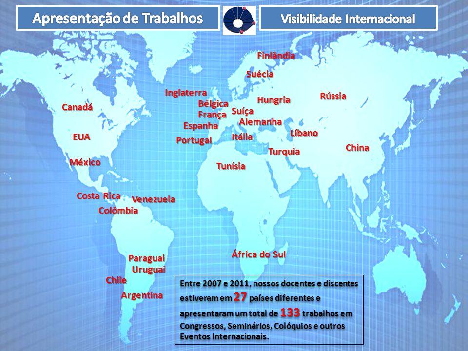 Alemanha Argentina EUA Rússia China Colômbia França Itália México Portugal Espanha Suécia Inglaterra Chile Venezuela Uruguai Bélgica Hungria Costa Ric