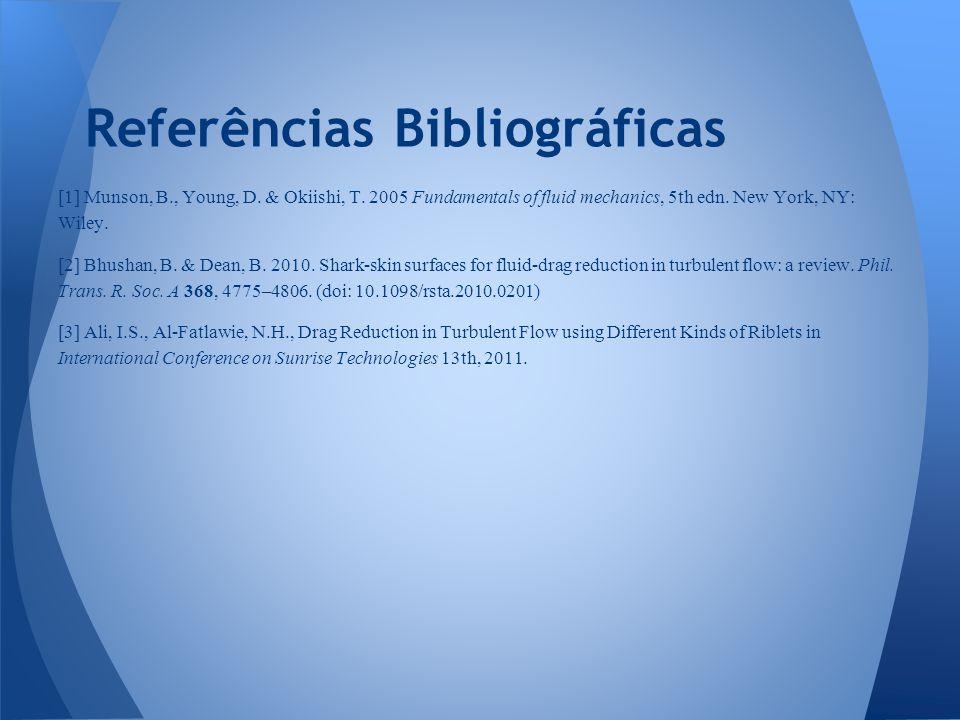 [1] Munson, B., Young, D.& Okiishi, T. 2005 Fundamentals of fluid mechanics, 5th edn.