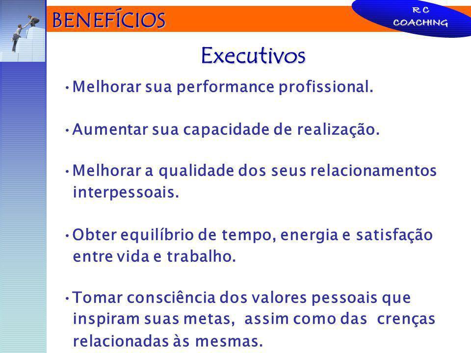 BENEFÍCIOS Melhorar sua performance profissional. Aumentar sua capacidade de realização. Melhorar a qualidade dos seus relacionamentos interpessoais.