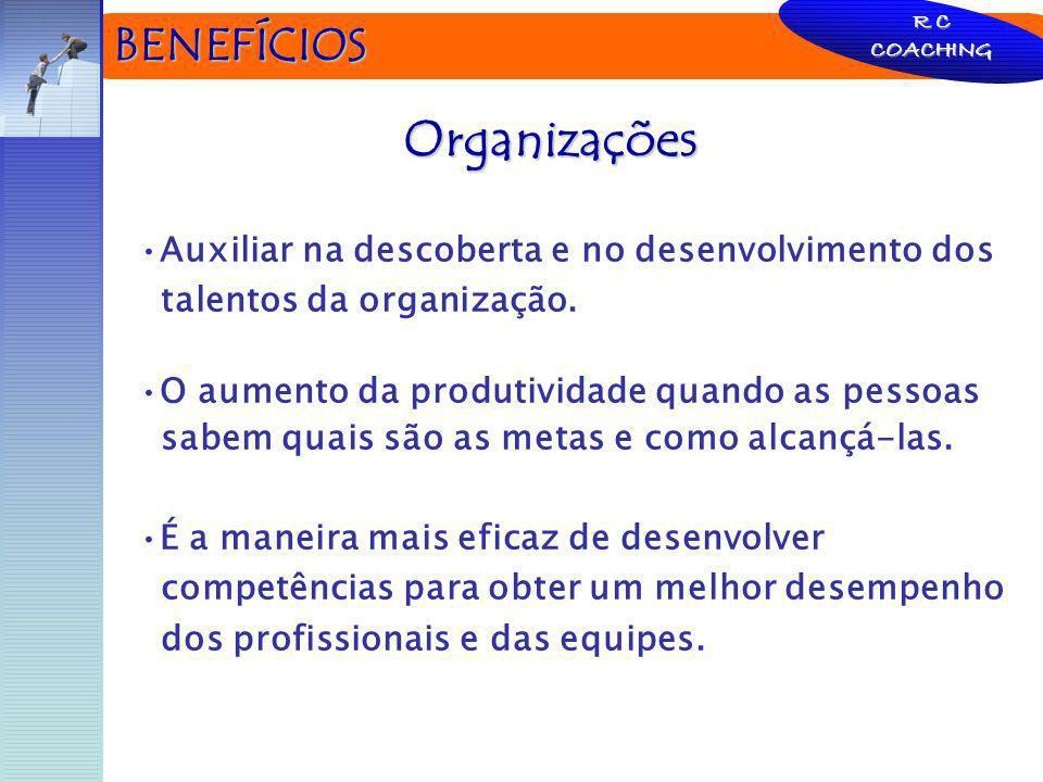 BENEFÍCIOS Organizações Auxiliar na descoberta e no desenvolvimento dos talentos da organização. O aumento da produtividade quando as pessoas sabem qu